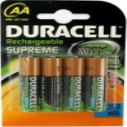 Set of 4 NiMH rechargeable batteries